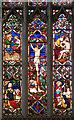 TF6120 : St Nicholas' Chapel in Kings Lynn - east window (detail) by Evelyn Simak