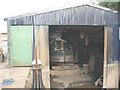 SJ7066 : Inside the boatyard at Middlewich by Stephen Craven