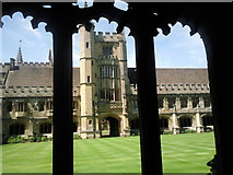 SP5206 : The Cloister, Magdalen College by Marathon