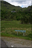 NM9184 : Sign at estate road junction by Nic Bullivant