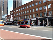 TQ3179 : Shops in Waterloo Road by Basher Eyre