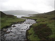 NN6664 : Downstream from the bridge by Lis Burke