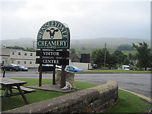 SD8789 : Wensleydale Creamery entrance by John Firth