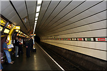 SJ3590 : Liverpool Lime Street Station:  Wirral line underground platform by Dr Neil Clifton