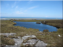 NF8069 : Lochan on the upper slopes of Maireaval by David Purchase