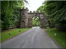 J3532 : The Barbican Gate of Tollymore Forest Park by Eric Jones