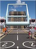 ST1972 : Lifting bridge on Cardiff Bay Barrage by Gareth James