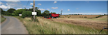 TR2355 : Combine Harvester at Bossington Farm by Oast House Archive