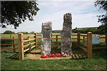 SK7046 : Hoveringham Lancaster Memorial by Richard Croft