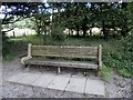 SD3197 : Seat on National Trust Land at the head of Coniston Water by Michael Steele