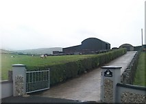 J2533 : Farm entrance and shed on the Castlewellan Road by Eric Jones