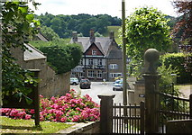 SK3463 : View down Church Street from the churchyard by Andrew Hill