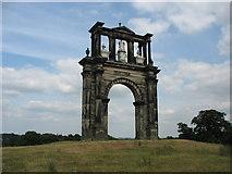 SJ9821 : Shugborough Triumphal Arch by Paul Brooker