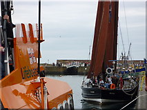 NT6779 : Dunbar Lifeboat Day 2010 - Ancient and Modern at Victoria Harbour, Dunbar by Richard West