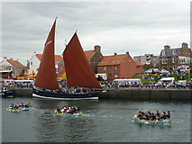 NT6779 : Dunbar Lifeboat Day 2010 - Paddling Past The Reaper by Richard West