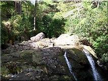 J3629 : Top of the falls below Craignagore Bridge by Eric Jones