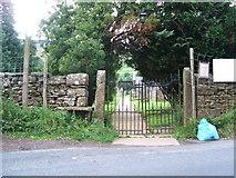 NY7801 : Church gates, Outhgill by David Brown