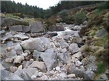 J3629 : Debris on the bed of the Glen River by Eric Jones