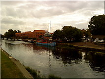 SK7954 : River Trent at Newark by Andrew Abbott