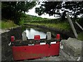 C1209 : Sluice gate, Newmills by Kenneth  Allen