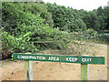 SJ7965 : Conservation area- keep out! by Jonathan Kington