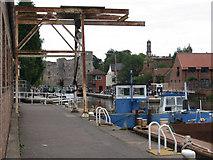 SK7953 : Newark - boatyard by Dave Bevis