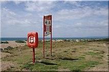SY5088 : Safety on Cogden Beach by Tony Atkin