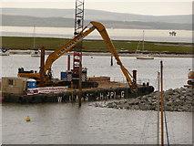 SZ3394 : Lymington: building a breakwater by Chris Downer