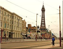 SD3036 : Blackpool: The Promenade towards the Tower by Mr Eugene Birchall