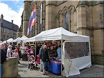 NY9364 : Thai stall, Hexham Market Square by Oliver Dixon