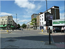 TQ3179 : Looking from Baylis Road across Westminster Bridge Road towards Kennington Road by Basher Eyre