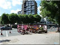TQ3179 : Roadworks in Lambeth Road by Basher Eyre