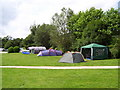SK2566 : Campsite at Rowsley by Martin Speck