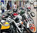 SO6024 : Bike parade, Gloucester Road, Ross-on-Wye 2 by Jonathan Billinger
