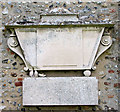 TG1712 : St Edmund's church in Costessey - monument on exterior wall by Evelyn Simak