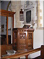 TG1807 : St .Andrew s Church Pulpit, Colney by Adrian Cable