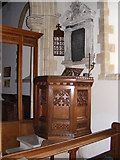 TG1807 : St Andrew's Church Pulpit, Colney by Adrian Cable