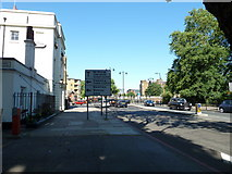 TQ3179 : Approaching the junction of   Lambeth Road and St George's Road by Basher Eyre
