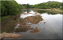 NM6768 : Sand and Gravel Banks in River Shiel by Trevor Littlewood