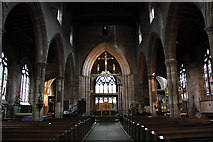 SK3871 : St.Mary & All Saints' nave by Richard Croft