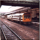 SX9193 : A local DMU waits at St. David's Railway Station, Exeter by nick macneill