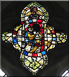 TL7388 : The church of St James in Wilton - medieval stained glass by Evelyn Simak