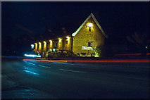 TM4599 : The Bell Inn St Olaves on a winters evening 2009 by Kevin Lloyd