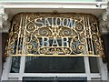"""TQ3086 : Wrought iron grille """"SALOON BAR"""" by Julian Osley"""