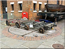 SO8218 : Static exhibits outside the National Waterways Museum, Gloucester by Brian Robert Marshall