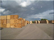 TA0623 : Timber stacks, Barrow Haven by Jonathan Thacker