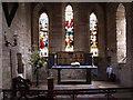 NU1241 : The altar, Lindisfarne Parish Church by Ian Cardinal