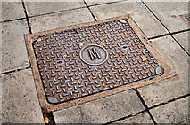 J3372 : Manhole cover, Belfast by Albert Bridge