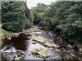 NY8539 : River Wear from road bridge at Wearhead looking East by kevin allen