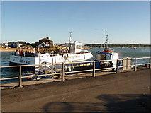 SZ1891 : Mudeford: ferry departing by Chris Downer